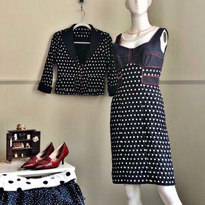 HandMade Italian Design Polka Dress Suit • 6